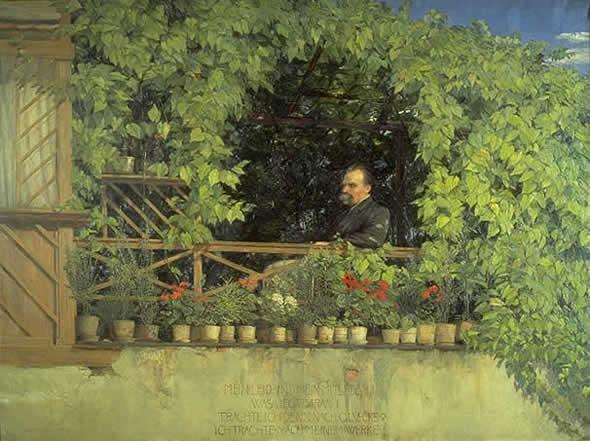 Nietzsche na varanda