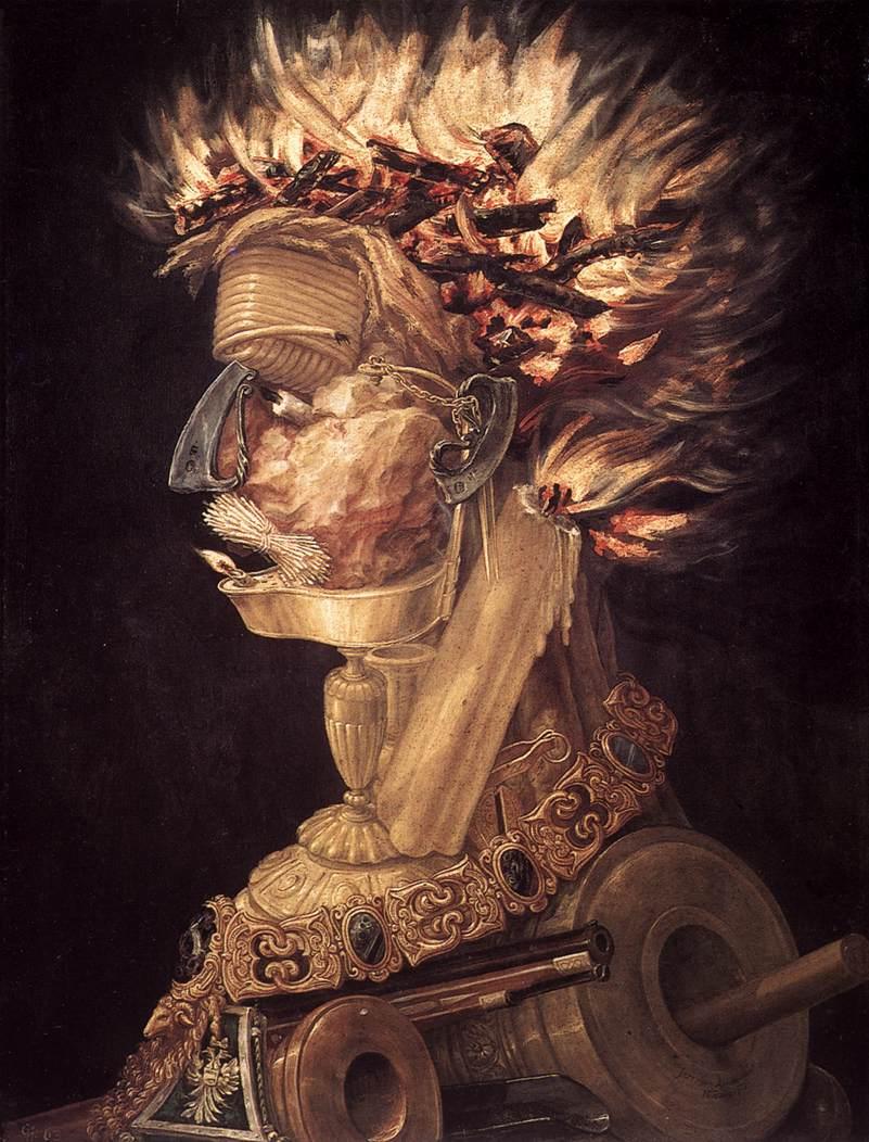 O fogo, de Giuseppe Arcimboldo, 1956.