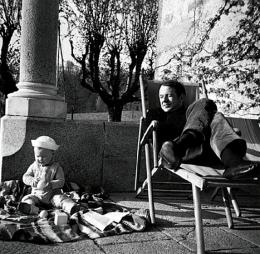 Deleuze com seu filho Julian