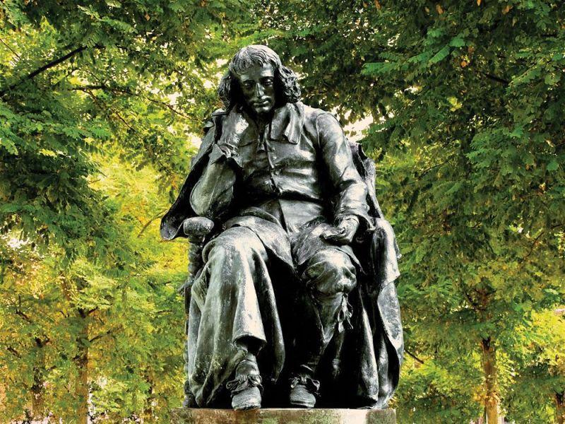 Estátua de Espinosa em Haia. De Frederic Hexamer.