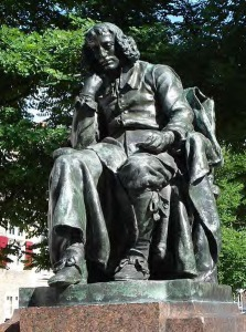 Estatua de Espinosa em Haia, feita por Frederei Hexamer