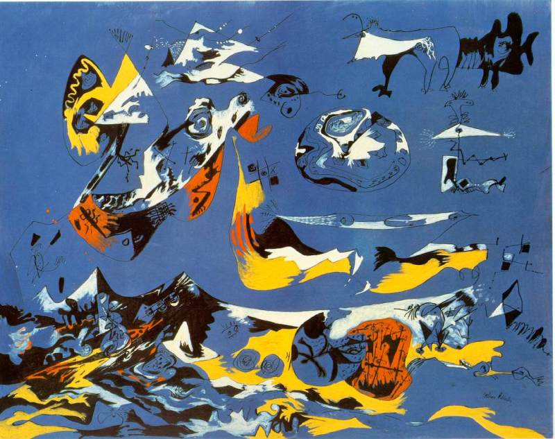 Blue (Moby Dick), Jackson Pollock, 1943.
