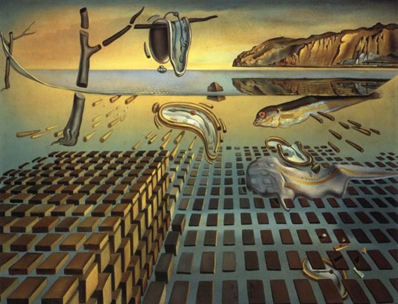 A desintegração da persistência da memória, Salvador Dali