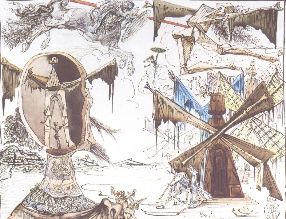 Don Quixote e os Moinhos de Vento, Salvador Dali