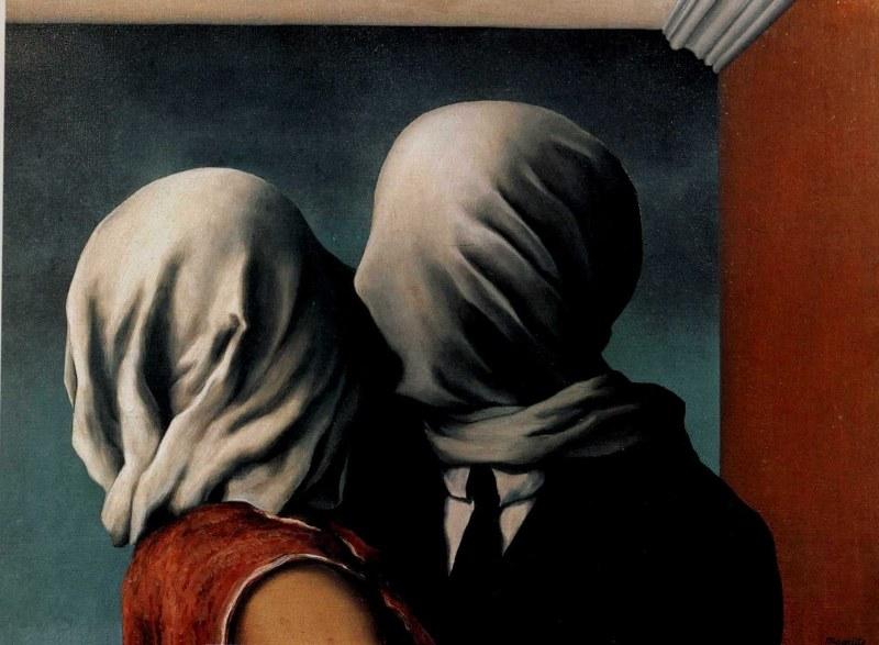 René Magritte, O beijo dos amantes, 1928