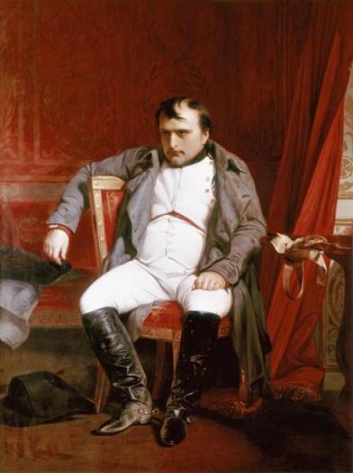 Napoleão após a abdicação (1845), Paul Delaroche: Tédio.