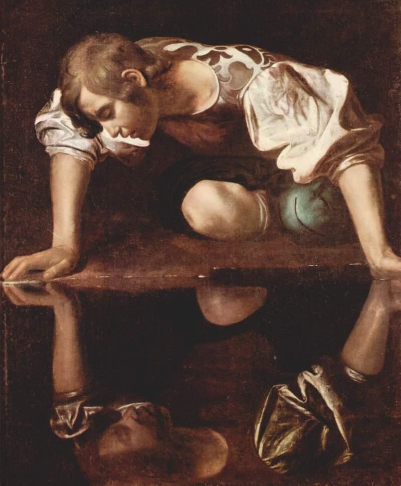 Narciso, Caravaggio, 1594-6
