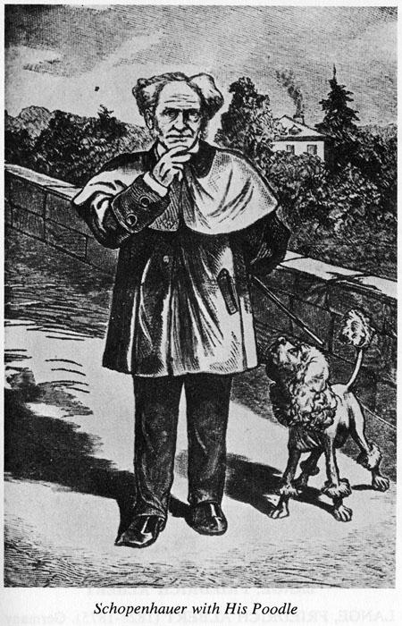 Schopenhauer e Atma (alma), seu poodle