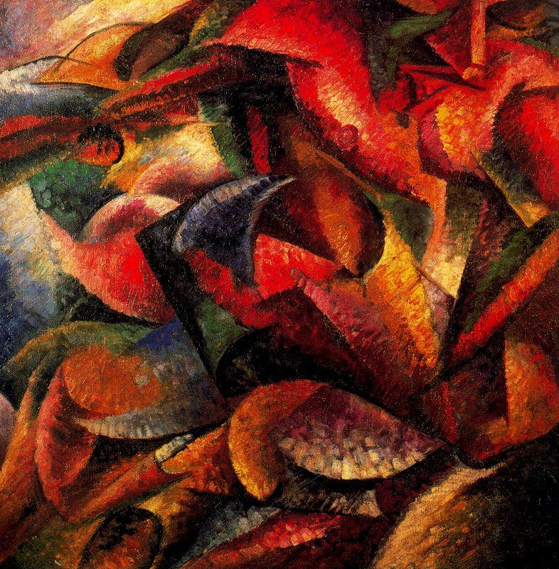Umberto Boccioni - Dinamismo do corpo humano, 1913