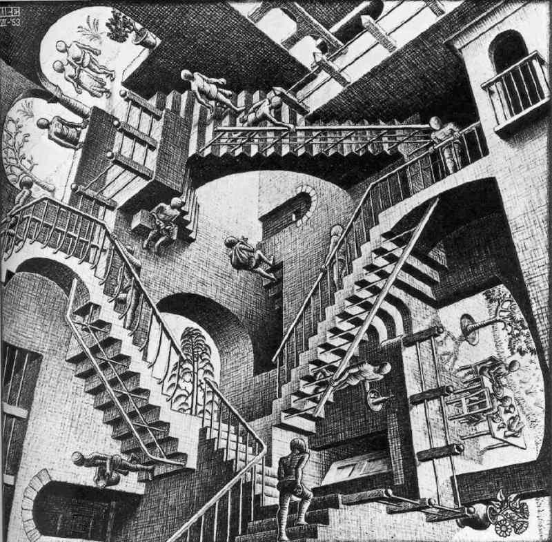 M.C. Escher, Relativity Lattice