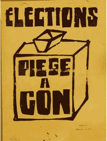"""Expressão praticamente intraduzível: """"Eleição: armadilha de rato"""", """"Eleição, um tiro no pé"""""""