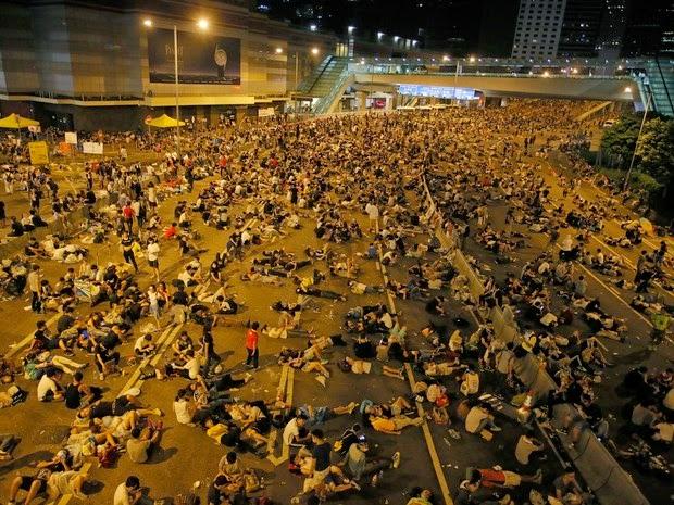 ativistas em hong kong