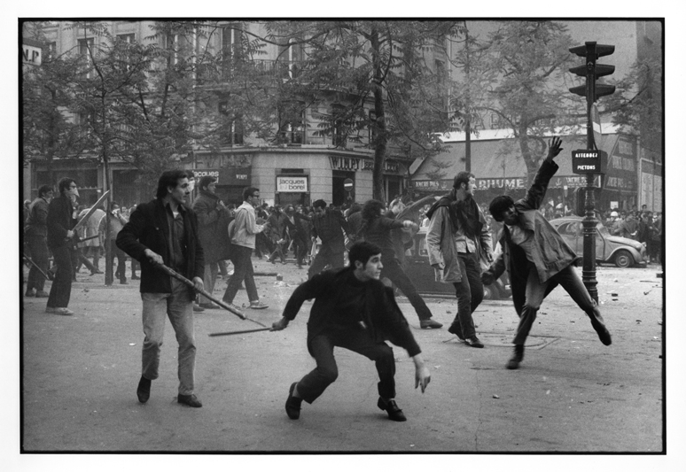 may-68-6th-arrond-boulevard-saint-germain-students-hurl-projectiles-against-the-police-bruno-barbey