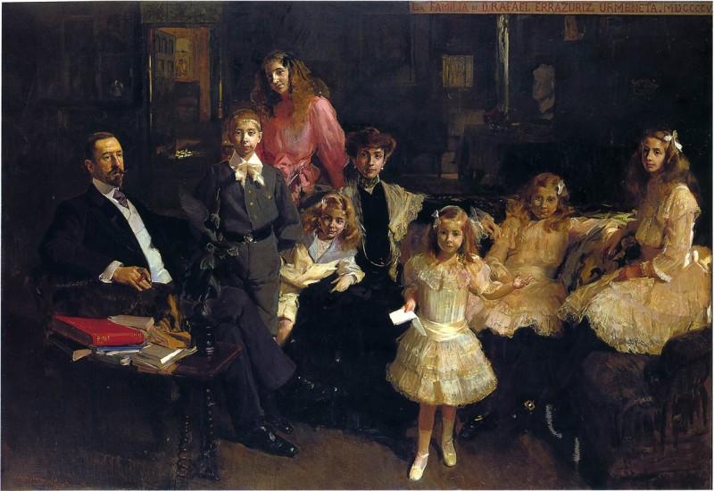 Family Eratruriz - Joaquín Sorolla