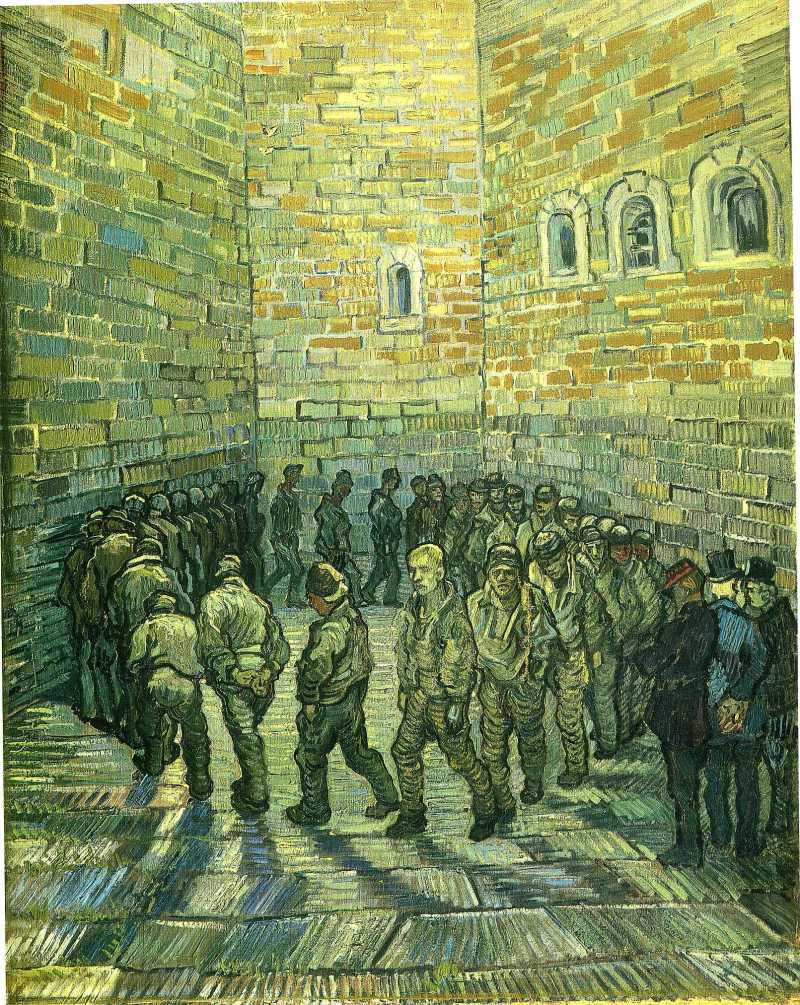 Prisoners Exercising (1890), by Vincent van Gogh