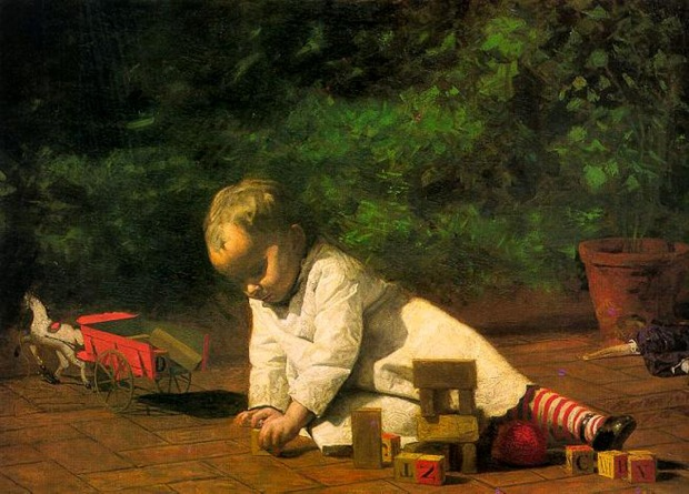 Baby at Play, Eakins