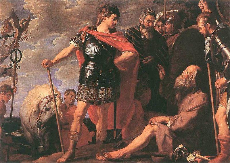 Alexandre e Diógenes, por Caspar de Crayer