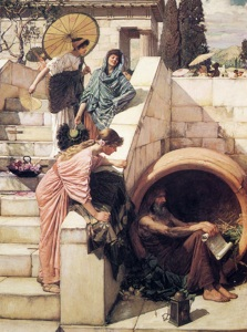 Diógenes, de John William Waterhouse