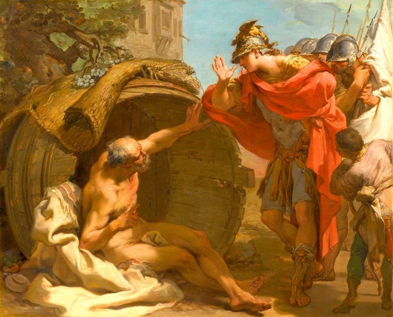 Diógenes e Alexandre, por Edwin Henry