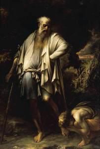 Diógenes jogando fora sua cuia, por Salvator Rosa