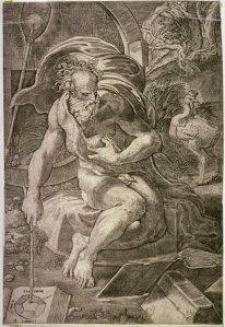 Diógenes, por Jacopo Caraglio