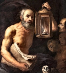 Zanchi: Diogenes with his lamp - and an owl