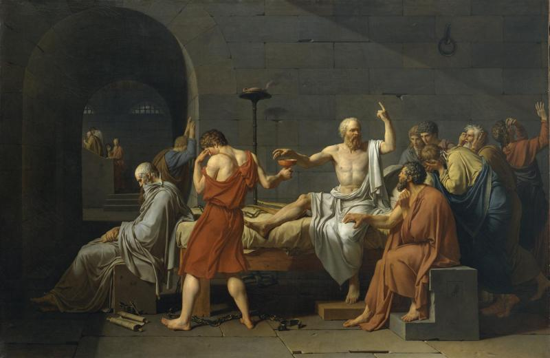 the-death-of-socrates-1787 - Jacques-Louis David