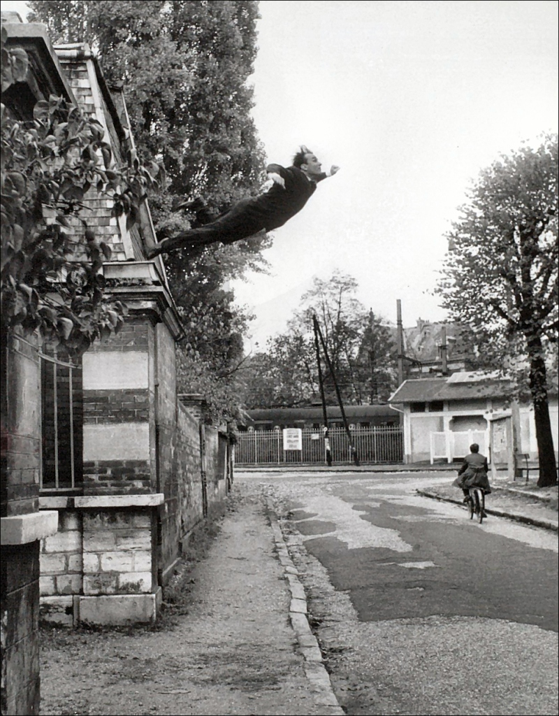 - Yves Klein, Leap Into the Void