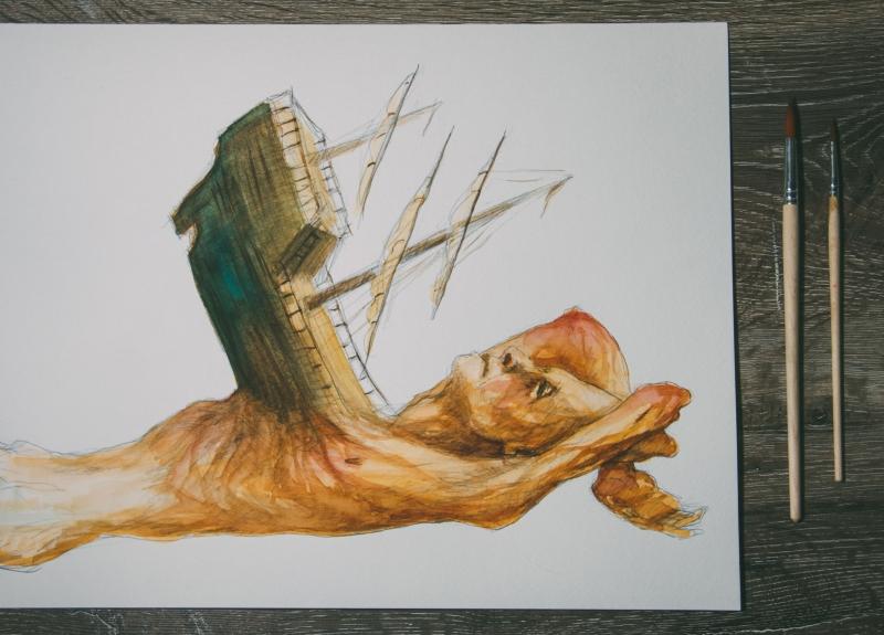Homem com naufrágio no peito, Susano Correia