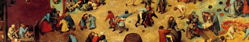 Pieter Bruegel, children's game, detail